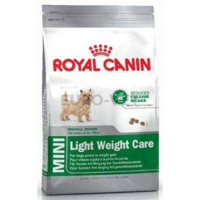 ROYAL CANIN MINI LIGHT WERIGHT CARE - száraz táp hízásra hajlamos, kistestű felnőtt kutyák részére 8 kg