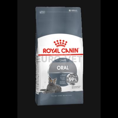 ROYAL CANIN ORAL CARE - száraz táp felnőtt macskák részére a fogkőképződés csökkentéséért 8 kg