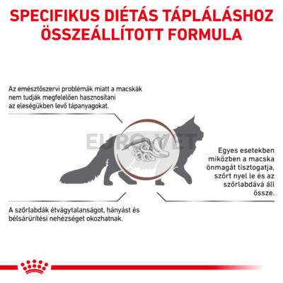 ROYAL CANIN GASTRO INTESTINAL HAIRBALL- száraz gyógytáp felnőtt macskák részére szőrlabda képződés esetén 2 kg
