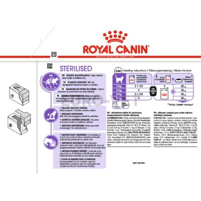 ROYAL CANIN STERILISED LOAF - ivartalanított felnőtt macska pépes nedves táp 0,085 kg