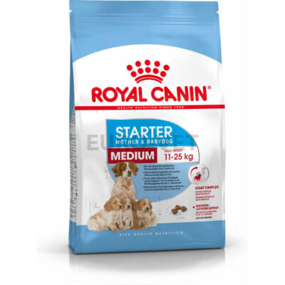 ROYAL CANIN MEDIUM STARTER MOTHER & BABYDOG -  közepes testű kölyök vemhes kutya száraz táp 12 kg