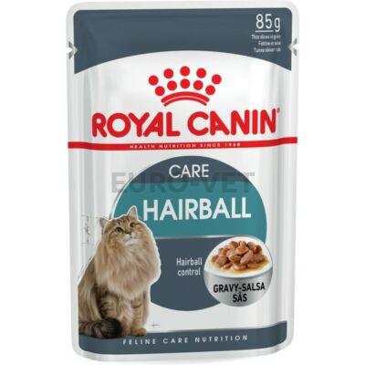 ROYAL CANIN HAIRBALL CARE - szószos nedves táp felnőtt macskák részére a szőrlabdák könnyebb eltávozásáért 0,085 kg
