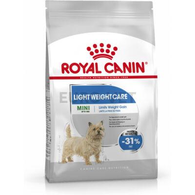 ROYAL CANIN MINI LIGHT WEIGHT CARE - száraz táp hízásra hajlamos, kistestű felnőtt kutyák részére 8 kg