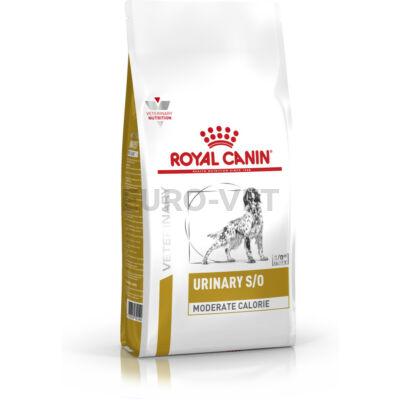 Royal Canin Urinary S/O Moderate Calorie - száraz gyógytáp felnőtt kutyák részére az alsó hugyúti problémák megelőzéséért, mérsékelt kalóriatartalommal 1,5 kg
