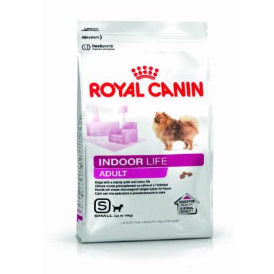 ROYAL CANIN INDOOR LIFE ADULT - lakásban élő kistestű felnőtt kutya száraz táp 1,5 kg