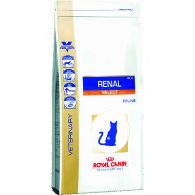 Royal Canin Renal Select Feline dry - száraz gyógytáp felnőtt macskák részére veseproblémák esetén 0,4 kg