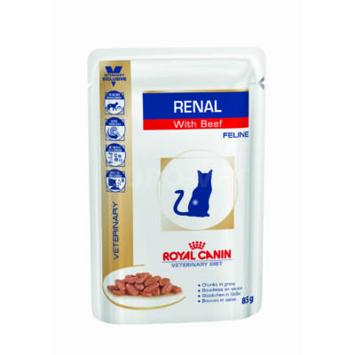 Royal Canin Renal with Beef Wet - Pouch 85 g