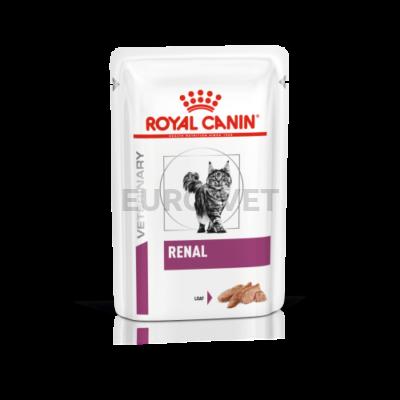 Royal Canin Renal Loaf - pépes, nedves gyógytáp vesebeteg felnőtt macskák részére  85 g