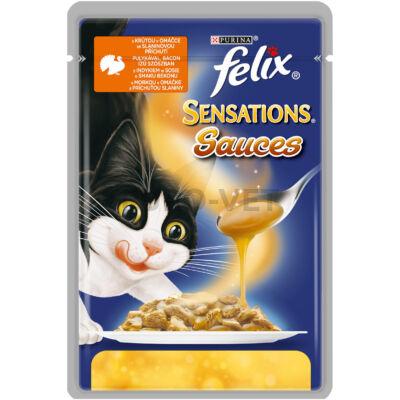 Felix Sensations Pulyka&Bacon szószban 100 g