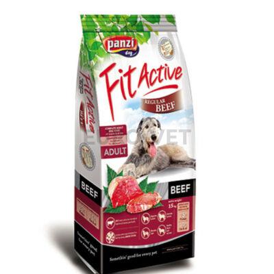 Panzi Fit Active Regular Beef - marhás száraz táp felnőtt kutyák részére 15 kg