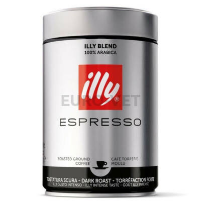 Illy Espresso darált Dark Roast kávé (sötét, fekete) 250 g