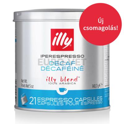 Illy IperEspresso Decaffeinated kapszulás kávé ( koffeinmentes, zöld) 21 adag