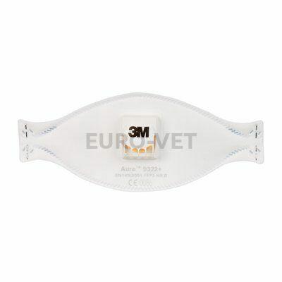 3M™ Aura™ részecskeszűrő félálarc, FFP2, szelepes, 9322+