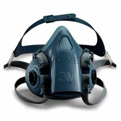 3M többször használható védőcsomag: 1 db 7500-as sorozatú félálarc + P3-as szűrő + törlőkendő + virucid felületfertőtlenítő + kézfertőtlenítő + védőkesztyű + védőszemüveg